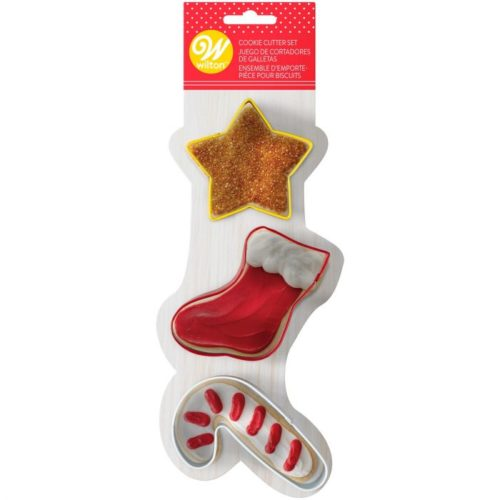 Wilton cookie cutter star-stocking-candy cane set/3 bij cake, bake & love 5