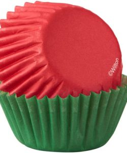 Wilton mini baking cups red & green pk/100 bij cake, bake & love 7