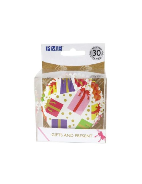 Pme wrapped presents cupcake cases, foil lined, pk/31 bij cake, bake & love 5