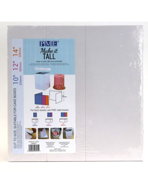Pme make it tall cake box extender bij cake, bake & love 7