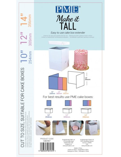 Pme make it tall cake box extender bij cake, bake & love 5