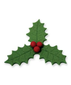 Pme small veined three leaf holly plunger cutter (25mm) bij cake, bake & love 9