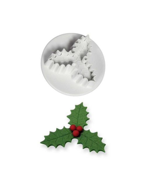 Pme small veined three leaf holly plunger cutter (25mm) bij cake, bake & love 5