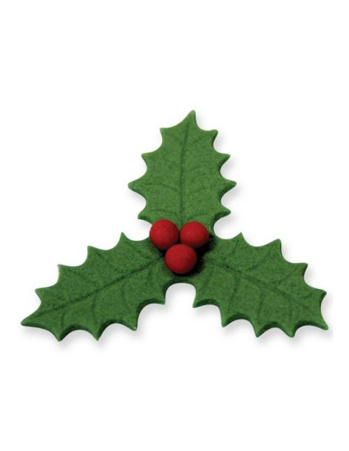 Large veined three leaf holly plunger cutter (45mm) bij cake, bake & love 8