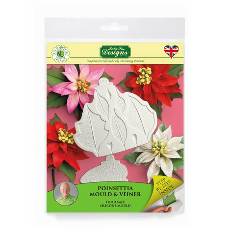Katy Sue Flower Pro - Poinsettia Mould and Veiner