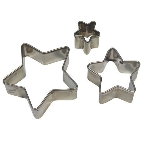 Pme stainless steel star cutters set/3 bij cake, bake & love 5