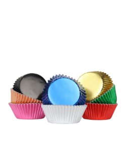 Pme baking cups multi colour metallic pk/100 bij cake, bake & love 10