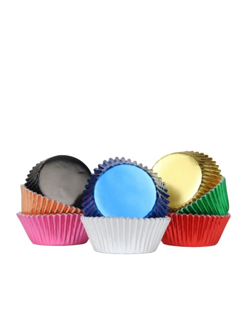 Pme baking cups multi colour metallic pk/100 bij cake, bake & love 7