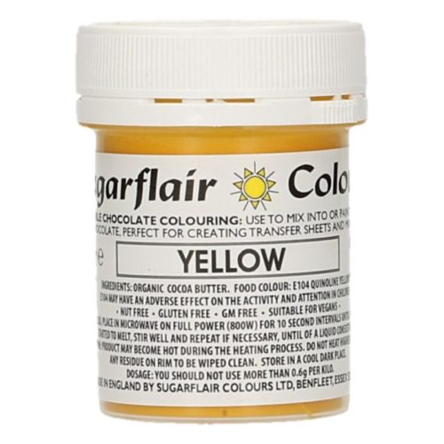 Sugarflair chocolate colour yellow 35g bij cake, bake & love 5