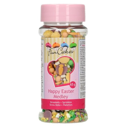 Funcakes sprinkle medley - happy easter - 65g bij cake, bake & love 5