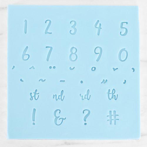 Pme fun fonts - numerals & special characters bij cake, bake & love 7