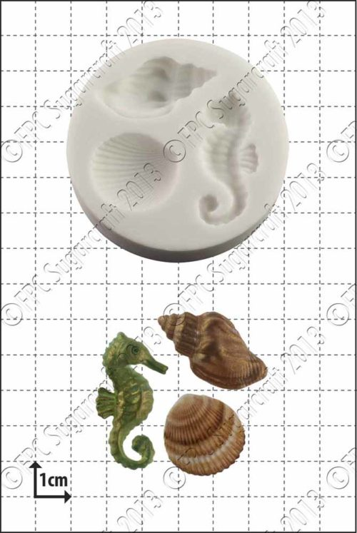 Fpc mould seahorse & shells bij cake, bake & love 5