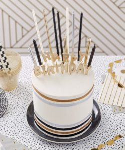 Wilton metallic candle set/25 bij cake, bake & love 10