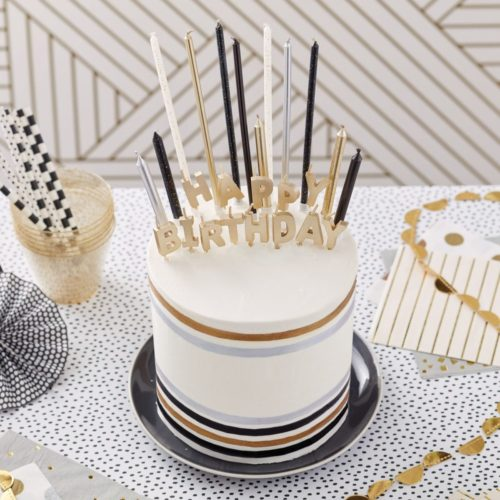 Wilton metallic candle set/25 bij cake, bake & love 7