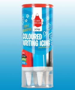Coloured writing icing - brights (4 tubes) bij cake, bake & love 7