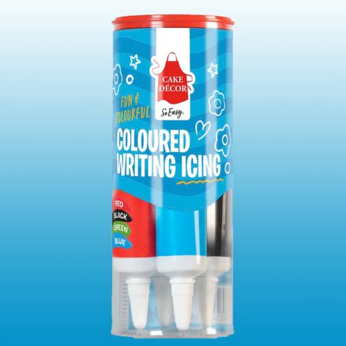 Coloured writing icing - brights (4 tubes) bij cake, bake & love 6