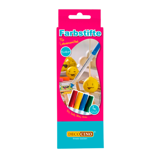 Edible food markers kit 4-pcs. Bij cake, bake & love 5