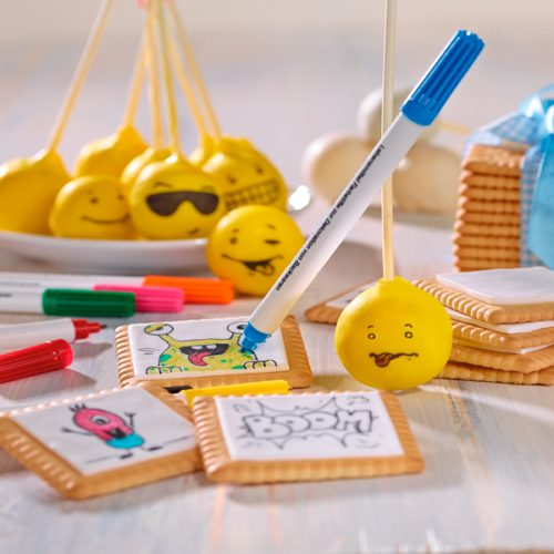 Edible food markers kit 4-pcs. Bij cake, bake & love 6