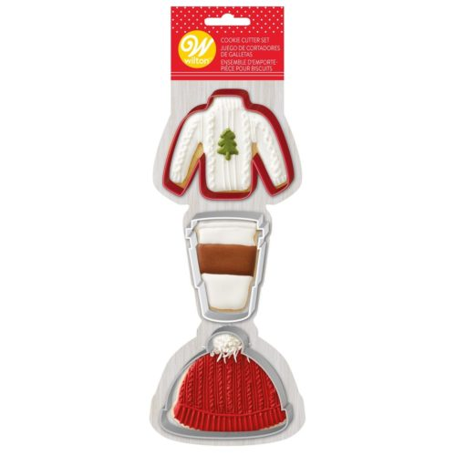 Wilton cookie cutter set sweater/hat/latte bij cake, bake & love 5