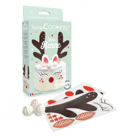 Scrapcooking decoratie kit ouwel rendier bij cake, bake & love 6