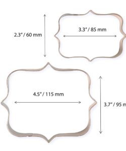 Pme cookie and cake plaque style 1 set/2 bij cake, bake & love 10