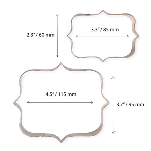 Pme cookie and cake plaque style 1 set/2 bij cake, bake & love 7