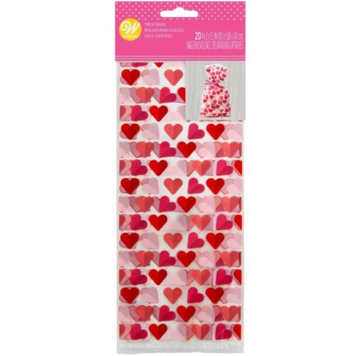 Wilton treat bags hearts pk/20 bij cake, bake & love 5