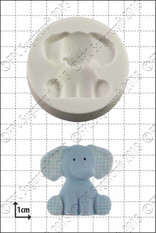 Fpc mould nursery elephant bij cake, bake & love 5